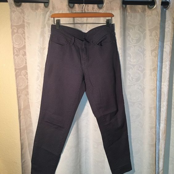 Gap super skinny jeans Gap premium super skinny grey crop polka dot jeans. Worn but in good condition. GAP Jeans Ankle & Cropped