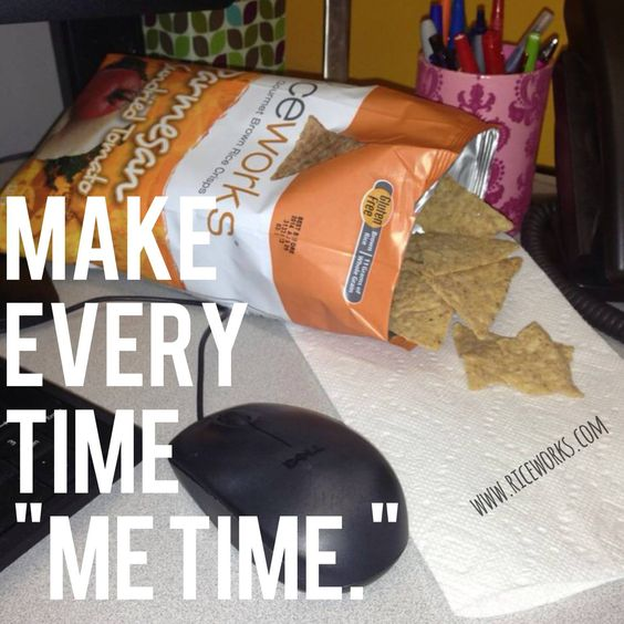 "Make every time ""me time"" with riceworks! #glutenfree #snack"