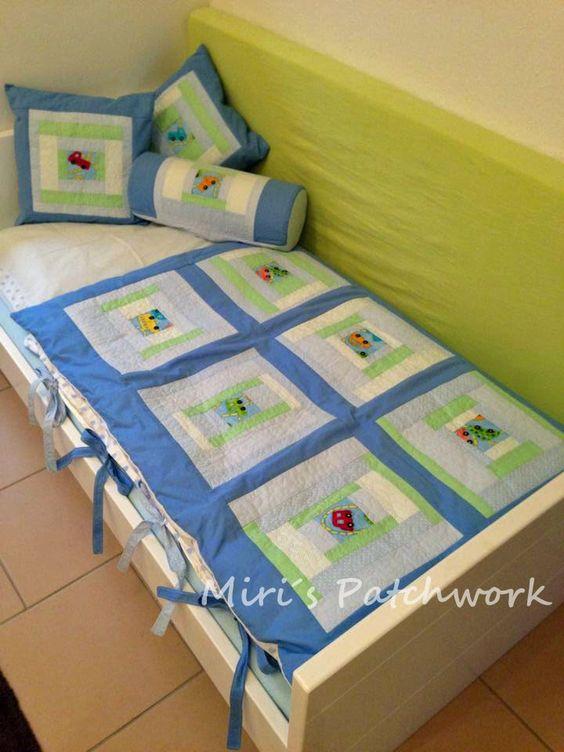 Baby patchwork quilt. Made to order bedding set . Kids room decor.
