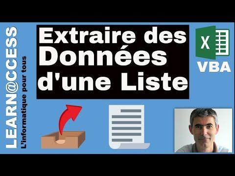 Excel Vba Comment Extraire Des Donnees D Une Base A Partir D Un Critere Youtube Nettoyage Du Corps Tableau Croise Dynamique Informatique