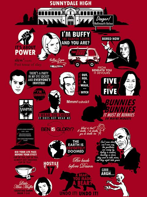 Available as a tee here:  http://www.redbubble.com/people/tomtrager/works/7456699-buffy-the-vampire-slayer-quote-shirt?c=80037-buffy-joss-whedon&p=t-shirt