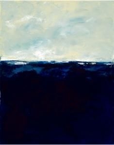 Deep Blue giclee on canvas