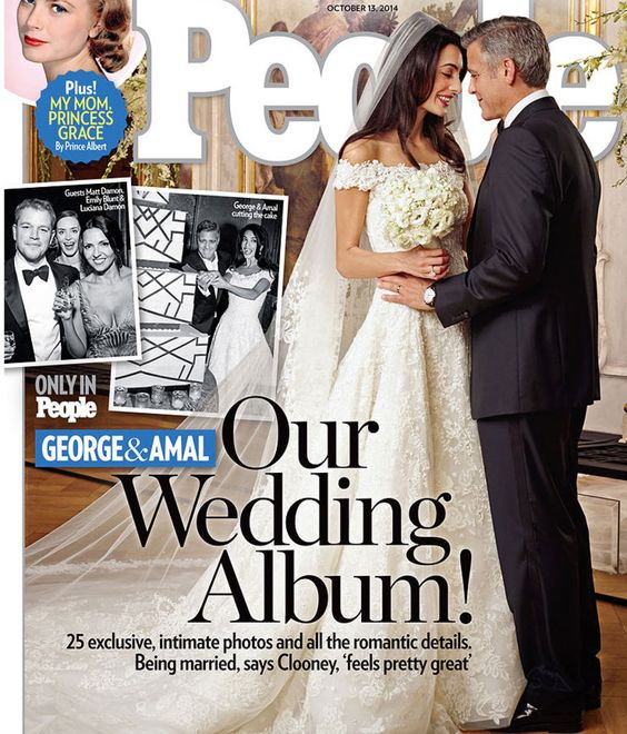 AMAL AND GORGE WEDDING - Oscar de la Renta dress
