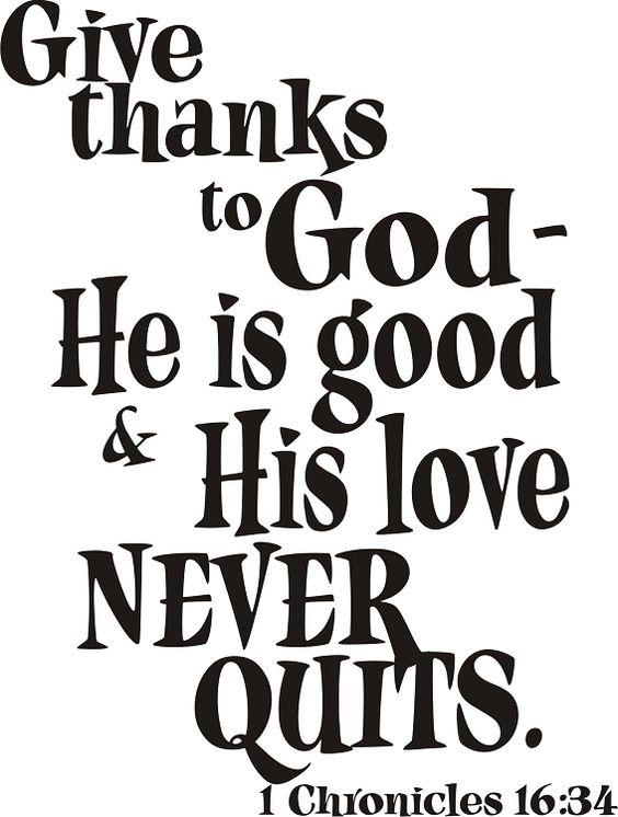 1chronicles16:34