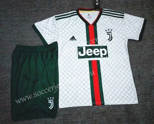 2019 20 Juventus Gucci White Classic Version Soccer Uniform Soccer Uniforms Soccer Football Sweater