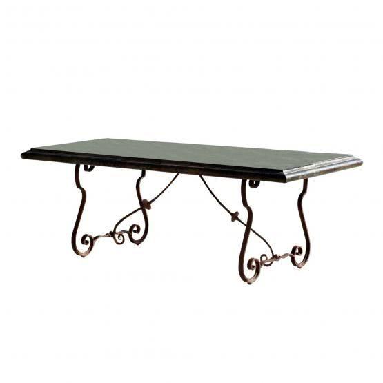 Tisch Lettret Loberon 1698 Farbe Grau Braun Material Gestell Eisen Platte Steingemisch Abmessungen H B T Ca 78 210 100 Tisch Gartentisch Gartenmobel