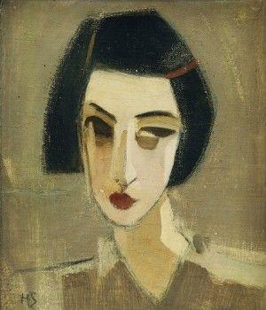 Portrait of Gota. Helene Schjerfbeck
