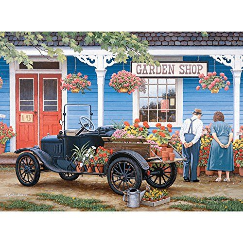 Out for a Drive 300 Piece Jigsaw Puzzle for Adults 18 X 24 Bits and Pieces 300 pc Americana Jigsaws by Artist John Sloane