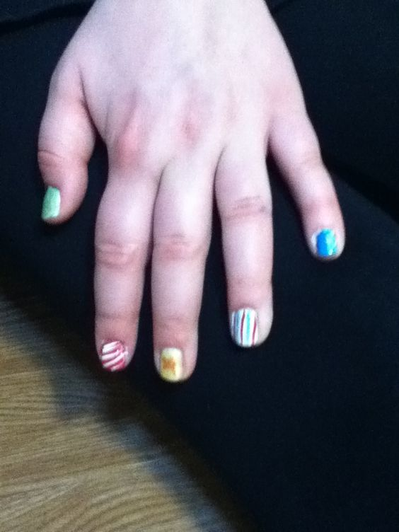 Christmas Nails with Jayden
