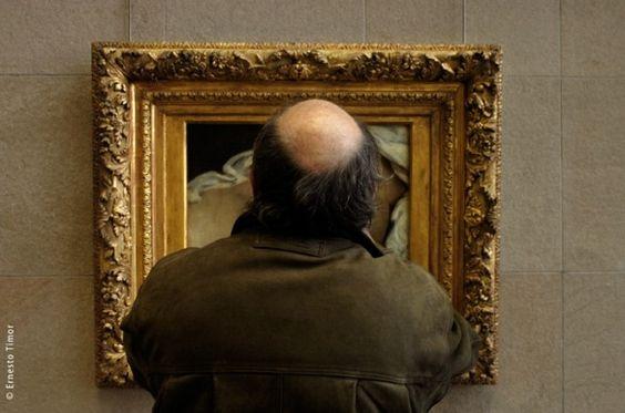 """""""L'Origine du monde"""" de Gustave Courbet au Musée d'Orsay / Photographié par Ernesto Timor http://www.ernestotimor.com/"""