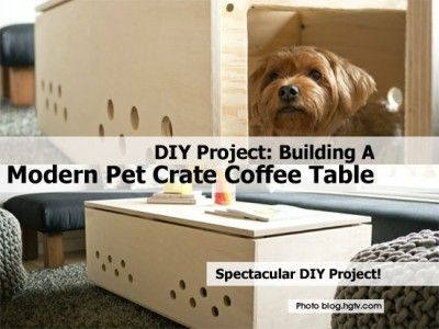 Pet Crate Coffee Table Craft Ideas Pinterest Pet Crates Crate
