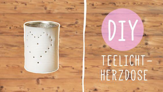 Bastelidee: DIY Teelicht-Dose mit Herz für romantische Stunden - Frauenzimmer.de