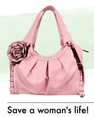 Purchase of this purse helps fund mammograms for women in need through the National Breast Cancer Foundation.