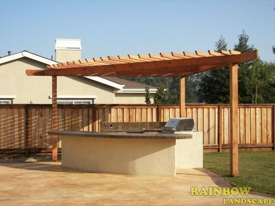 Bbq island pergola patio and sonoma county on pinterest for Built in bbq island designs