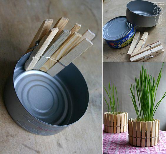 Clothespin Planter: