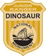 Dinosaur National Monument (3 hrs from Salt Lake)  Dinosaur Junior Ranger badge