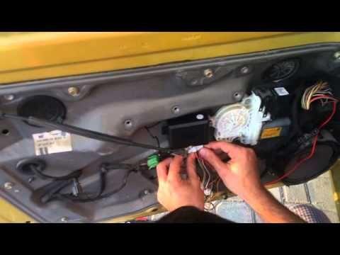 How To Install Keyless Entry System In Vw Mk4 Golf Jetta Bora Remote Control Youtube Keyless Entry Systems Keyless Keyless Entry