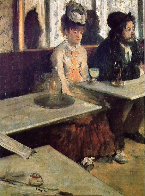 Edgar Degas (1834 – 1917) Dans un café dit aussi L'absinthe (Ellen Andrée et Marcellin Desboutin) entre 1875 et 1876 Huile sur toile, 92 x 68,5 cm Paris, Musée d'Orsay