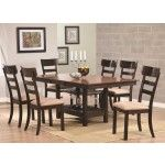 Coaster Furniture - Greenbury 5 Piece Butterfly Extension Rectangular Dining Room Set In Brown - 104281-82-5Set