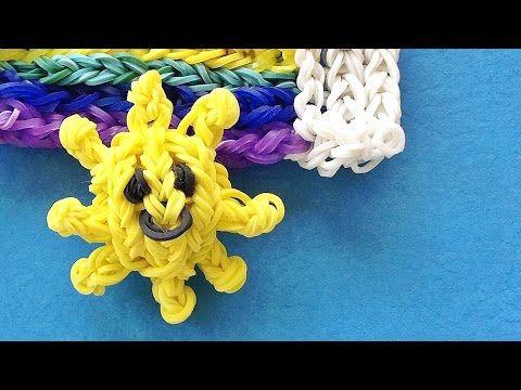 Rainbow Loom Sun 3D - How to make a loom bands 3D - Sun Charm