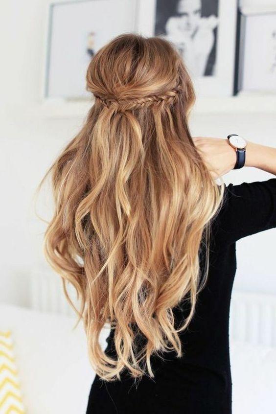 tendance coiffure 2016, coiffure d'été femme pour cheveux longs