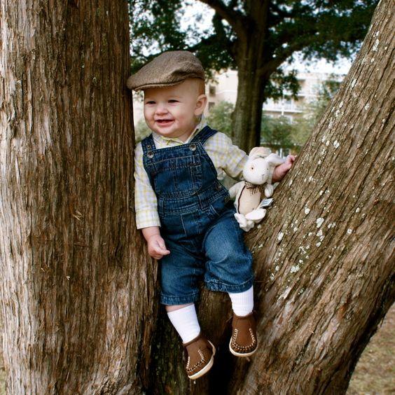"Cutie pie in a tree!  Boys shoes, ""London"" in brown - Beko Baby"