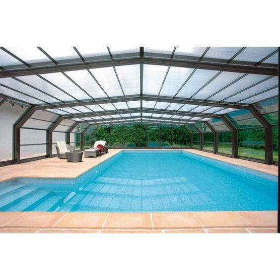 #Cubierta telescópica alta para #piscina. Modular y plegable. Disfrute del #baño todo el año. ¡Pida presupuesto sin compromiso!