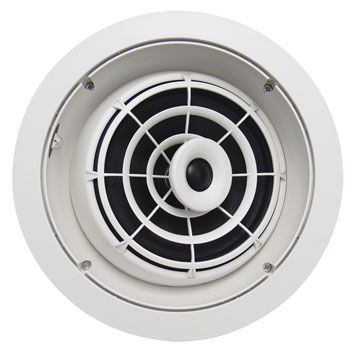 SpeakerCraft AIM8 Two High Fidelity Pivoting In-Ceiling Speaker - Each (White) a