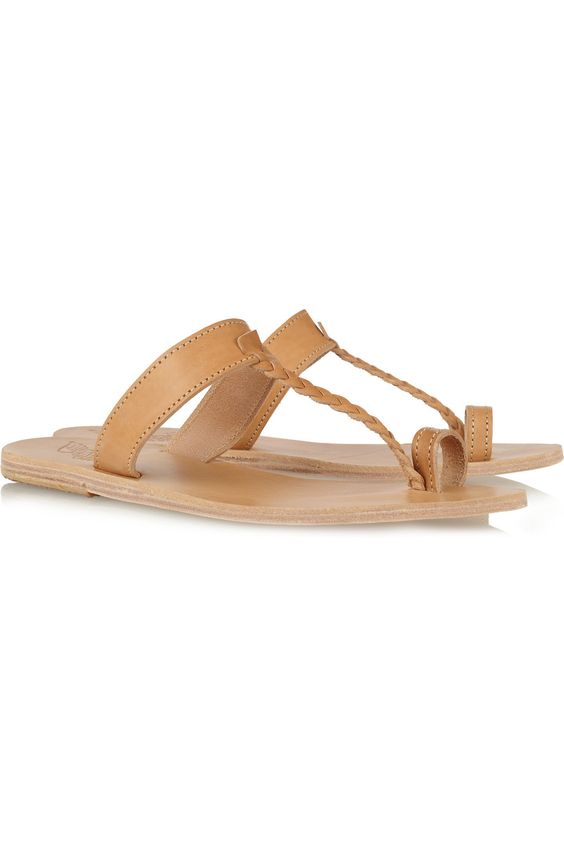 Ancient Greek Sandals Melpomeni braided leather sandals