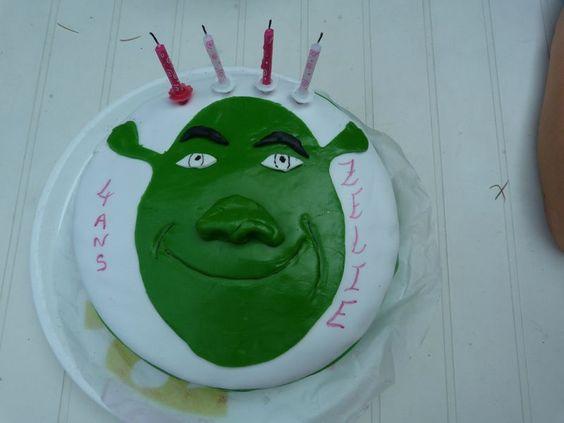 G teau shrek d cor en p te sucre anniversaire enfant g teaux rigolos pinterest shrek - Decoration gateau anniversaire enfant ...