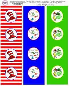 Dr. Seuss printables: Seuss Ideas, Dr Seus, Cup Cake, Free Printable, Cupcake Toppers, Party Ideas, Seuss Printables, Baby Shower