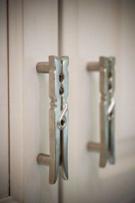 Clothespin Cabinet Pulls For Your Laundry Room Laundry Room