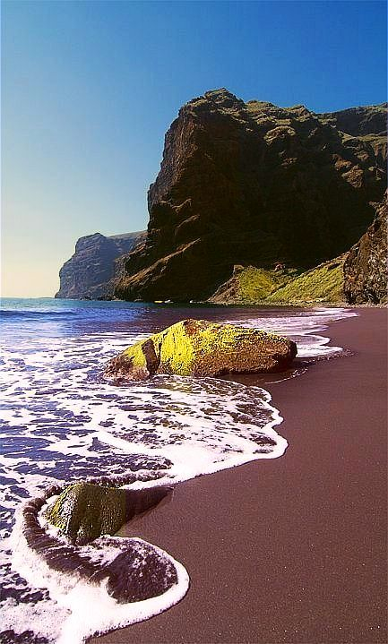 ✯ Playa de Masca - Tenerife, Canary Islands is breathtaking.  Visited here when my son played bball for Spain.