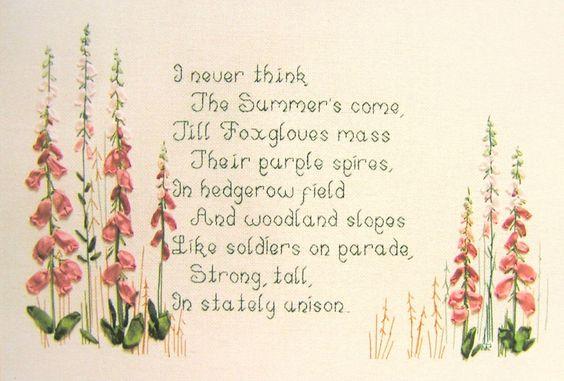 Mary Jane Ribbonwork Kit ' Foxgloves ' in Crafts, Embroidery, Kits | eBay