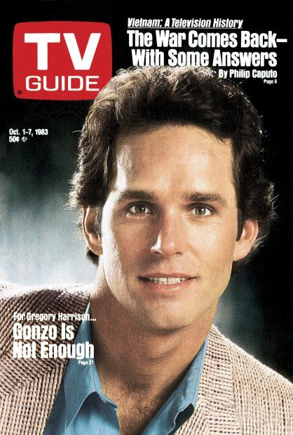 Gregory Harrison on the cover of TV Guide, October 1983.