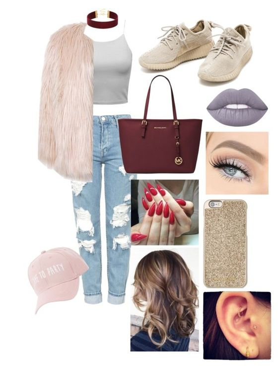 """""""Pinkish glam!💖"""" by cheyenne-prettyhurts on Polyvore featuring Topshop, Michael Kors, Lime Crime, Sans Souci and Charlotte Russe"""
