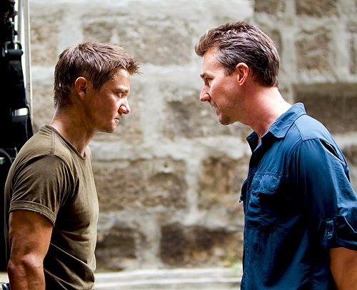 The Bourne Legacy!!!  Freakin' love this movie!!  (Jeremy Renner & Edward Norton)