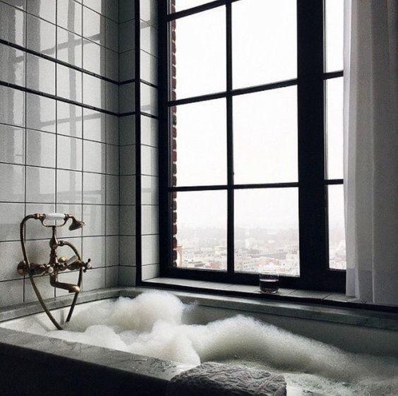 Modern bubble bath
