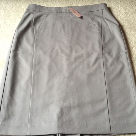 AT grey pencil skirt Perfect summer pencil skirt for the office. Skirt is lined and has a small slit in the back.Never worn. Ann Taylor Skirts Pencil