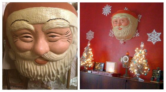 It's not Christmas, until the giant antique Santa makes it onto the wall. - Bryan Gott