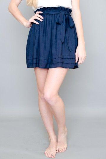 So Very Pleasant Skirt-Navy