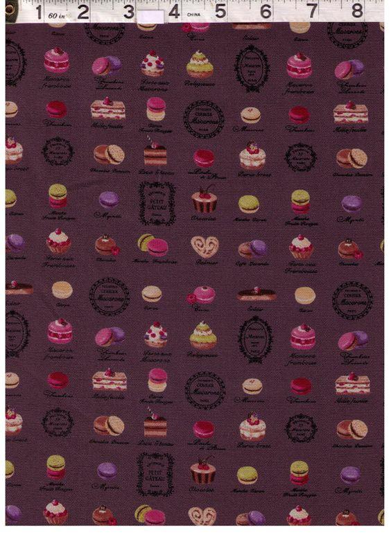 HALF YARD Yuwa Fabric Mini Paris French by fabricsupply