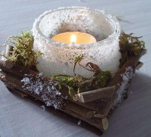 bougeoir nature et pot en verre christmas and others. Black Bedroom Furniture Sets. Home Design Ideas