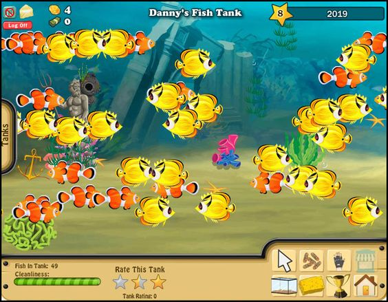 Fb game fish world decorating and taking care of a fish for Fish world games