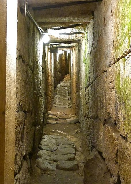 Drainage channel that took storm water and sewage from Old City, City of David, Israel.