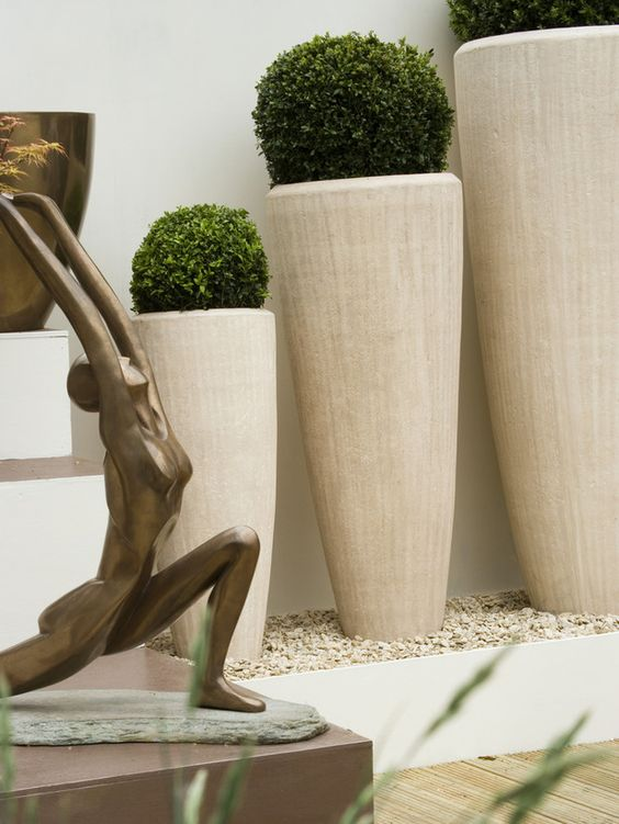 Contemporary Planters Topiaries And Planters On Pinterest
