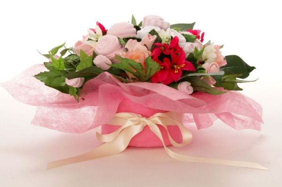 Pink Baby Grow Bouquet from Rocka-Bye-Baby Gifts