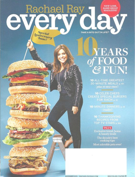 Every Day With Rachel Ray Magazine November 2015 Anniversary Recipes Cooking  #Doesnotapply