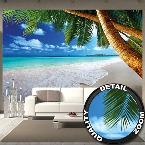 Great Art Wall Mural Palm Trees Beach Mural Decoration Ca Https