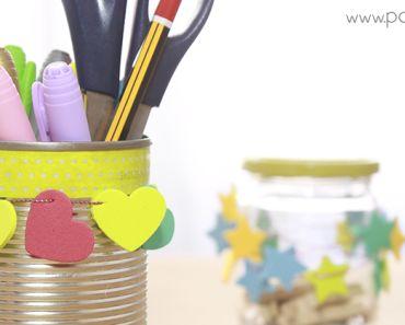 Decorar latas y botes de cristal How to decorate cans and jars